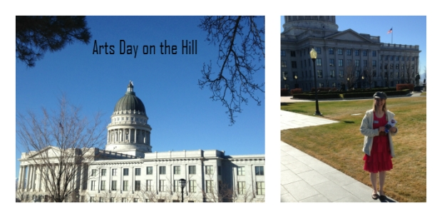Arts Day on the Hill--Promoting Story Crossroads on 2-17-15