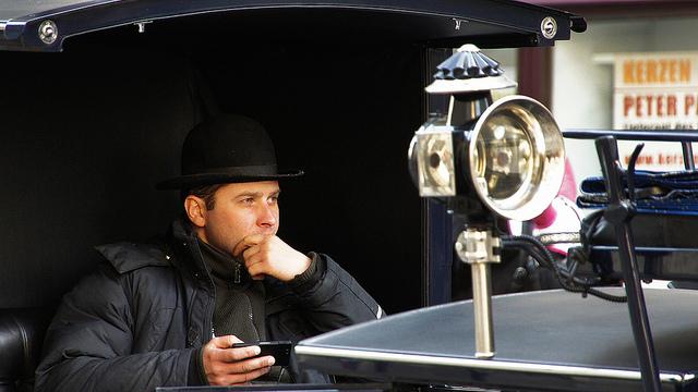 Vienna Man Pondering--Steve Evans Picture