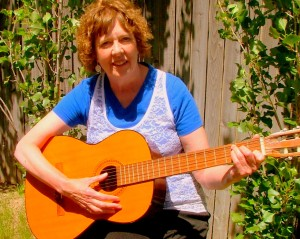 Laurie Allen with guitar