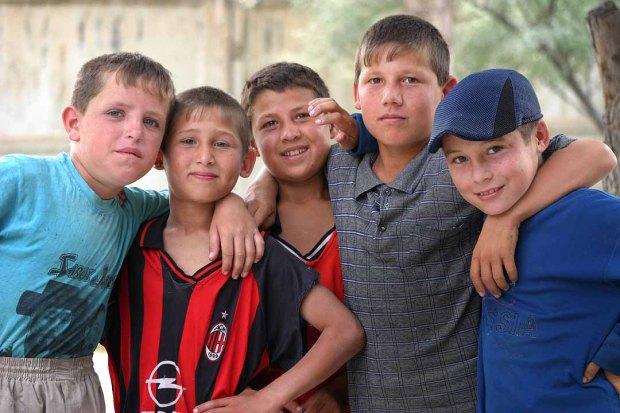 Boys from Tajikistan