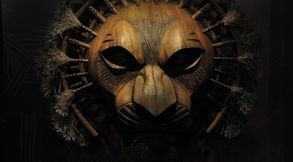 Lion King Mask--London production--Steve Evans
