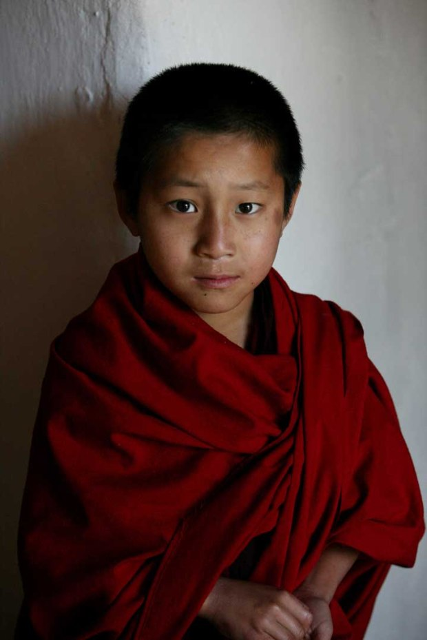 Buddhist Boy by Steve Evans