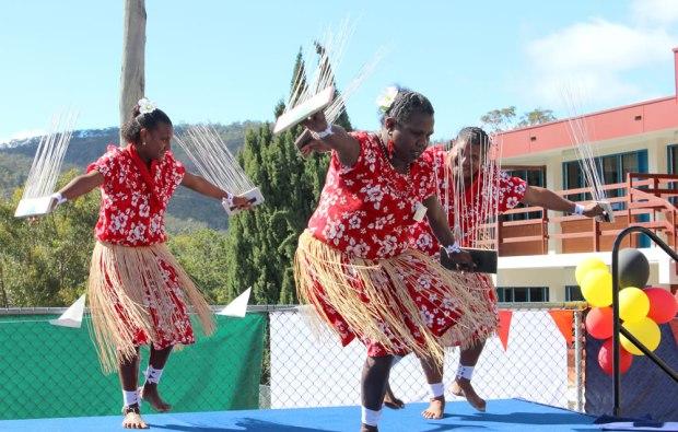 Mount St Bernard's Saiyan-Nona-Jennifer-Nona-and-Timena-Nona.Badu-Island-Dancers