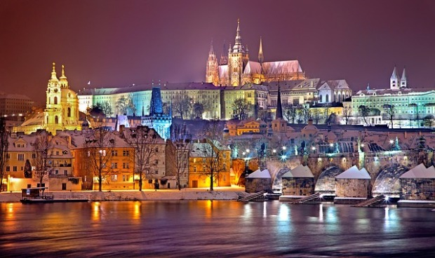 Prague on a Winter Night by Julius Silver