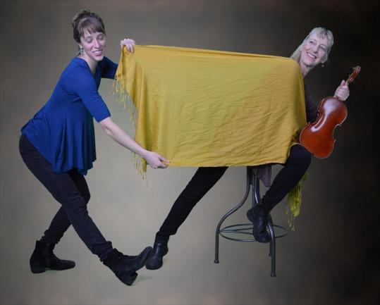 Missy & Roz Diagonal pull with scarf