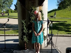 Youth teller at 2017 Story Crossroads