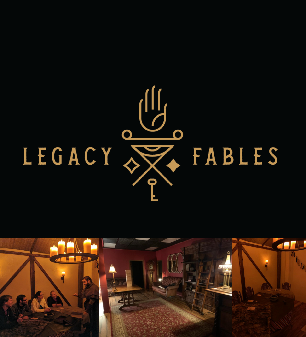Legacy-Fables collage with logo